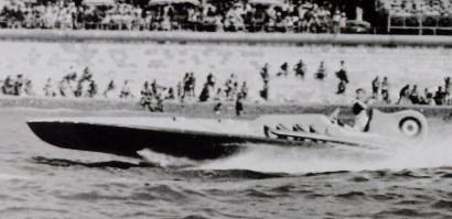 Bateau à moteur Rafale V (autrefois Aurora) 1934 Hydroplane de record à moteur d'avion Hispano-Suiza V12