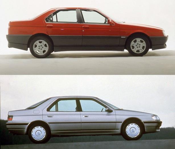 [Separate dalla nascita] Alfa 164 e Peugeot 605, gemelle (molto) diverse