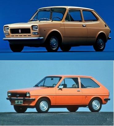 Fiat 127 e Ford Fiesta